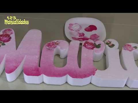 como-decorar-letras-3d-/-letras-de-unicel-decoradas-/-3d-letter-diy