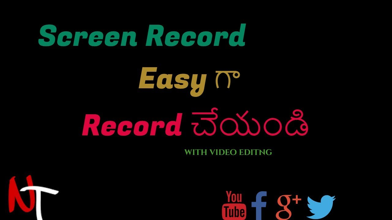 Easy Screen Recording Softwear With Video Editing Youtuber Chaise