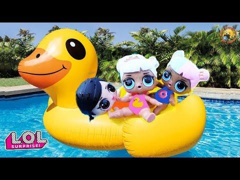 видео: Мультик! Куклы ЛОЛ с малышами едут на Гигантскую Утку LOL Surprise Видео для детей с игрушками