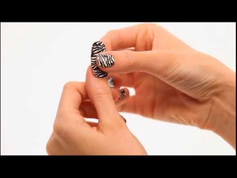 How To Apply Nail Stickers Sally Hansen Salon Effects