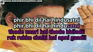 Download Phir Bhi Dil Hai Hindustani Udit Narayan Video Karaoke With Lyrics