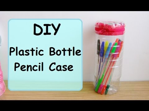 How To Make A Plastic Bottle Pencil Case Youtube
