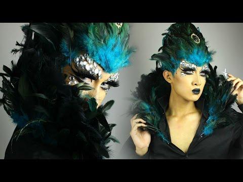 Peacock Queen: DIY Feather Headpiece and Collar Tutorial