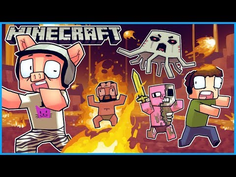 we went to the nether realm and everyone died... Minecraft ep 2