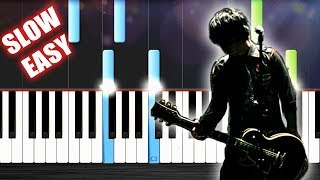 Green Day - 21 Guns - SLOW EASY Piano Tutorial by PlutaX - Synthesia