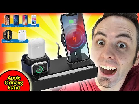 CHARGING STAND FOR IPHONE, APPLE WATCH, AIRPODS   8-in1 Charging Stand Unbox   AirPower Alternative?