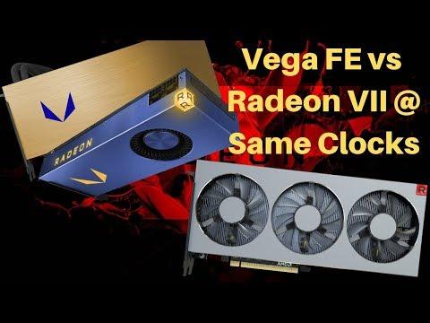 Radeon VII Vs Vega Frontier Comparison @ Same Clocks