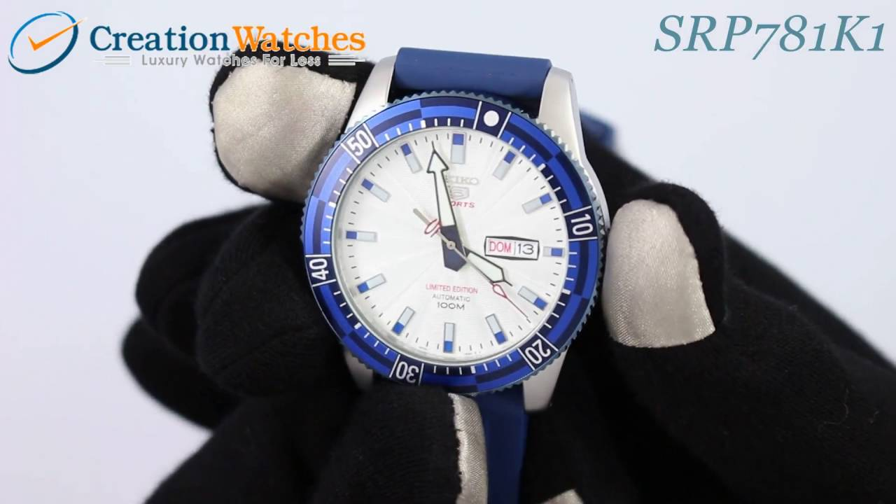 Seiko 5 Sports Automatic Limited Edition SRP781 SRP781K1 SRP781K Men s  Watch - YouTube 30da18edee