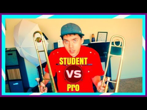 Student VS Pro Trombone Comparison