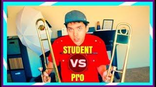 Student VS Pro Trombone Comparison