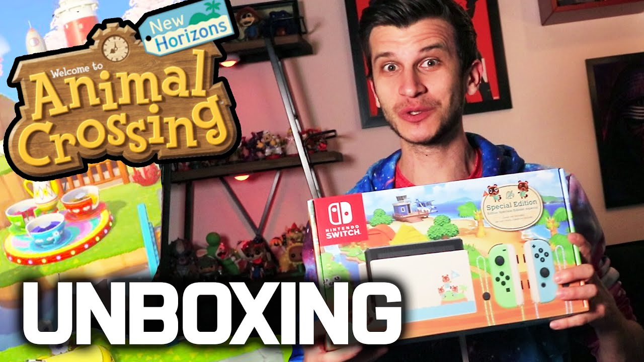 Animal Crossing Switch Console Unboxing New Joy Con Dock Switch