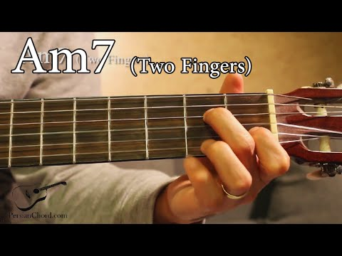 Am7 Chord On Guitar Two Fingers Youtube