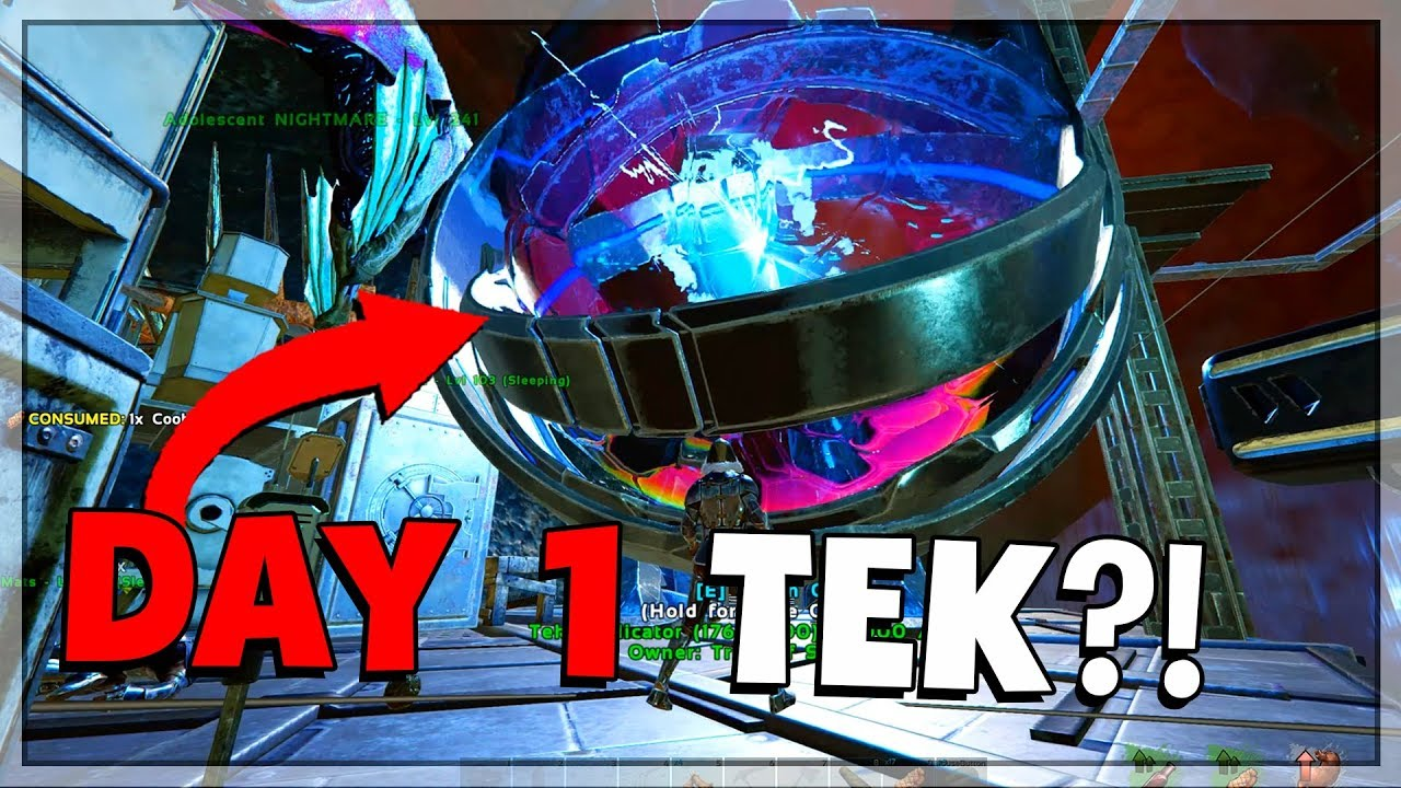 TEK IN 1 DAY?! - ARK Small Tribes PvP