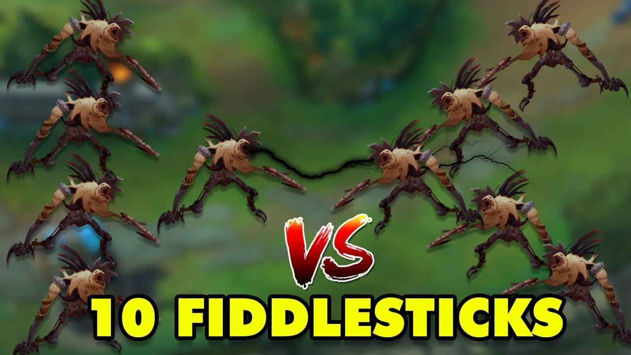 10 Fiddlesticks Mới trong 1 trận LMHT sẽ như thế nào? Fiddlesticks vs Fiddlesticks Một Cho Tất cả