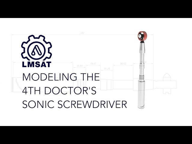 How to design a sonic screwdriver in Fusion 360 - LMSAT