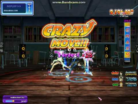 [Audition PVS] Crazy 8 Beat city BPM 120 combo x42 By หนึ่งเยสอยู่