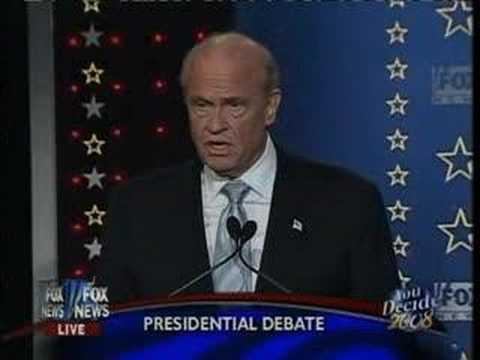 Fred Thompson: Huckabee your no Ronald Reagan SC debate