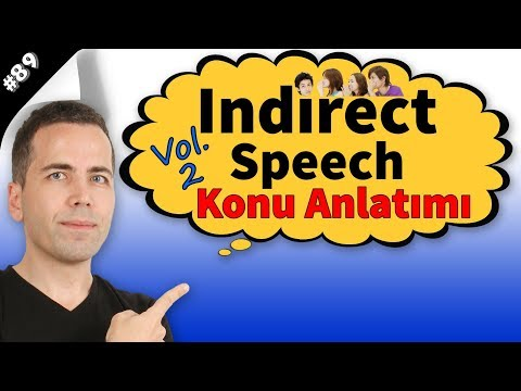 Indirect Speech Konu Anlatımı #89