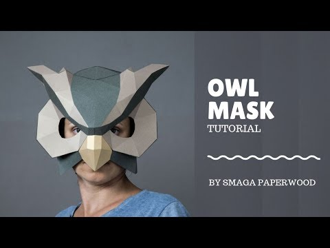 Owl paper mask diy tutorial by SmagaPaperwood