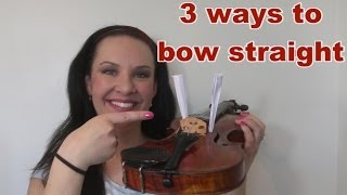 3 Ways To Bow Straight on Violin