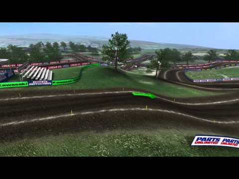 2013 Unadilla Motocross Animated Track Map Dynamic Cam