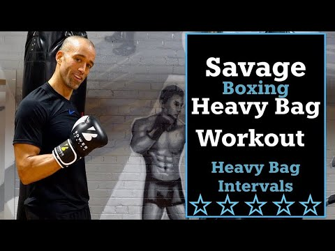 30 Minute Savage Boxing Heavy Bag Workout