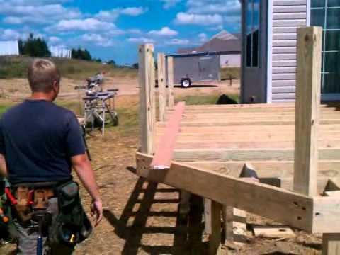 How To By Lbcanddreamdecks On Framing A Free Standing Deck
