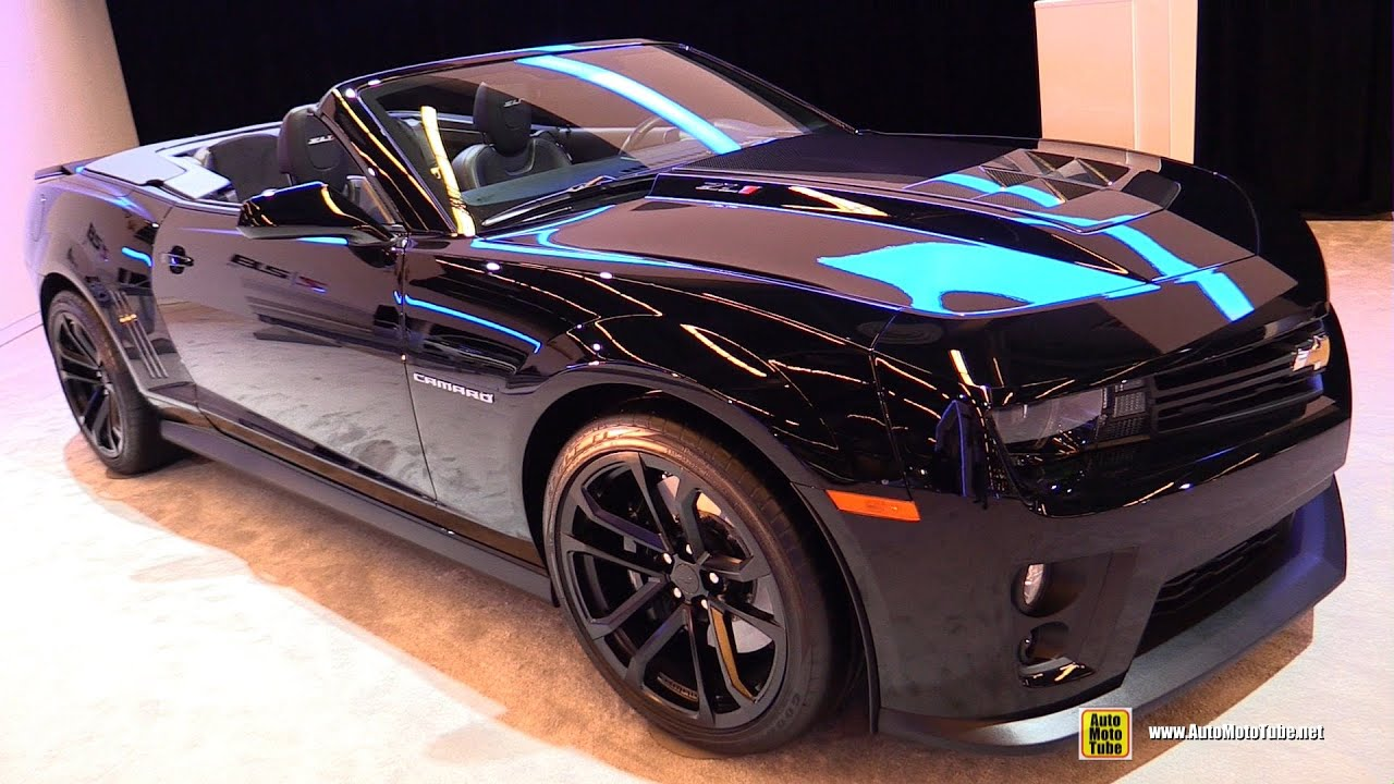 2015 chevrolet camaro zl1 convertible - exterior and interior