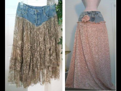 Как сшить из старых джинс юбку для женщин пошаговое фото