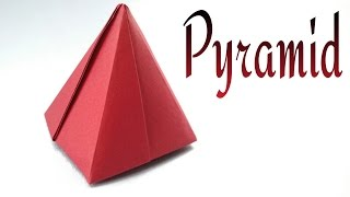 Origami Paper 'Pyramid' (3D) - Fully concealed.