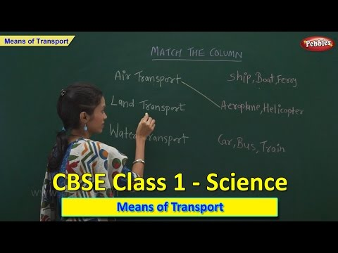 Means Of Transport | Class 1 CBSE Science | Science Syllabus Live Videos | Video Training