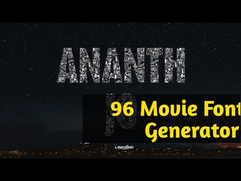 96 Tamil movie font generator| Create Your Name