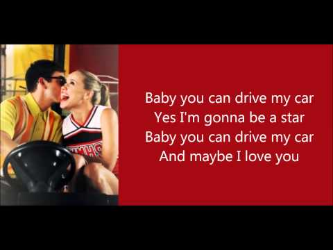 Glee - Drive My Car (Lyrics)