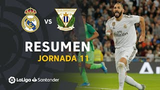 Resumen de Real Madrid vs CD Leganés (5-0)