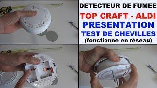 détecteur de fumée TOP CRAFT ALDI DEF-002A/KD-101LB