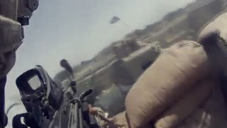U.S. Soldier Hit During Firefight | M240 & M249 Intense Machine Gun Fire