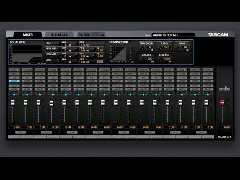Tascam US-16x08 (Audio Interface ) + Software