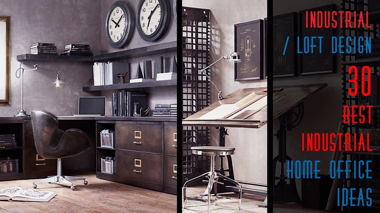 30 best industrial home office ideas youtube for The design home