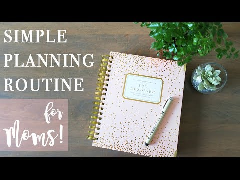 How I Use My Planner as a Stay-at-Home Mom | 2019 EVENING PLANNING ROUTINE!