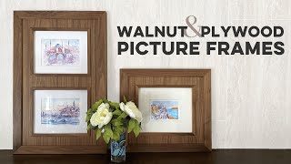 Walnut and Plywood Picture Frames // 2019 Vacation Watercolors // DIY Woodworking