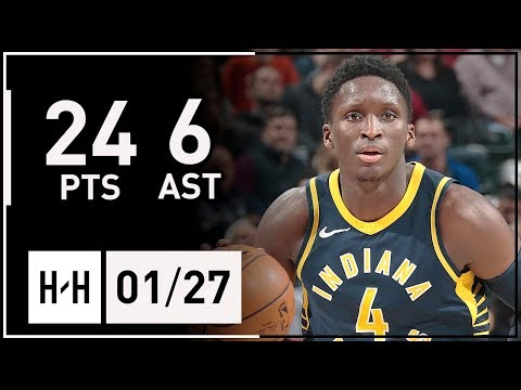 Victor Oladipo Full Highlights Pacers vs Magic (2018.01.27) - 24 Pts, 6 Ast, CLUTCH!
