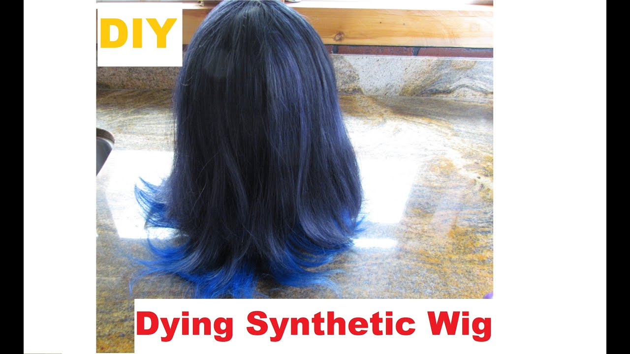 How To Dye A Synthetic Wig - YouTube