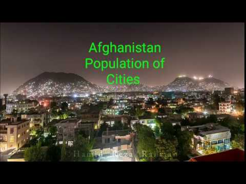 Afghanistan population cities names and famous places