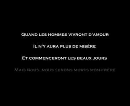 Quand les hommes vivront d'amour par Raymond Levesque