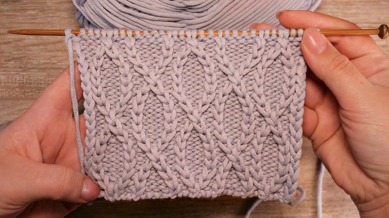 Узор «Бесконечность» спицами ∞ «Infinity» knitting pattern