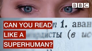 Experiment with amazing speed reading! - BBC