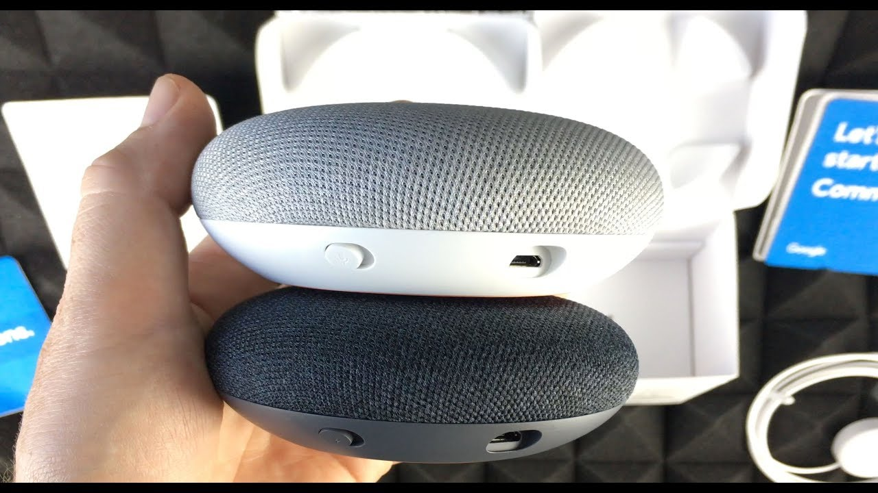 Google home mini charcoal vs google home mini chalk for Google home mini