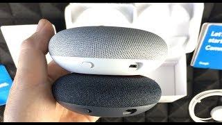 Google Home Mini - Charcoal vs. Google Home Mini Chalk Unboxing
