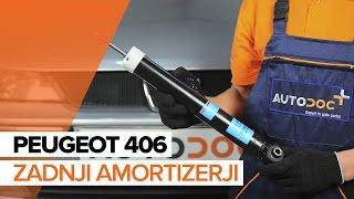 Vgradnja spredaj Blažilnik PEUGEOT 406: video priročniki