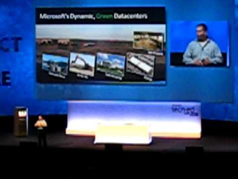 Microsoft TechEd EMEA 2008 KeyNote Speech - Green Data Centers